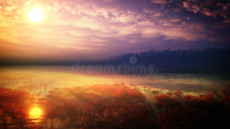 Fantasy Tropical Environment royalty free stock photo