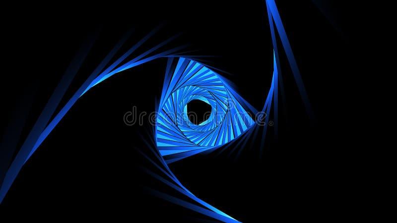 Fantasy tunnel with fractal elements. Digital technology background stock illustration