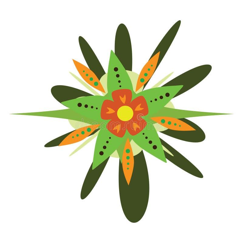 Fantasy vector flower. Illustration isolated over white background vector illustration