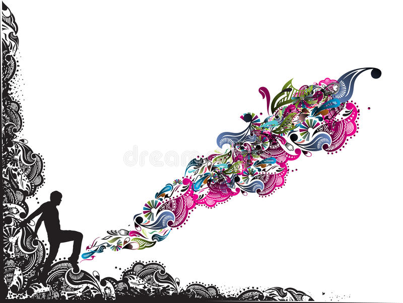 Fantasy vector illustration royalty free stock images
