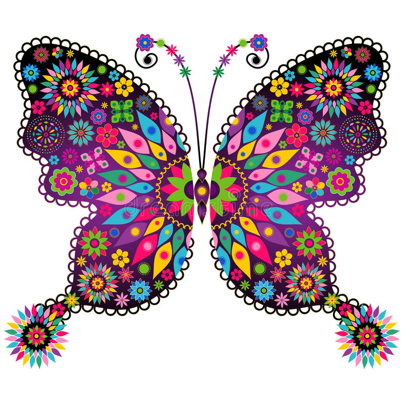 Free Fantasy Vivid Vintage Butterfly Royalty Free Stock Photography - 30756597