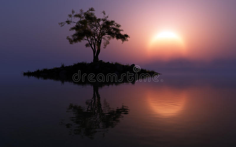 Fantasy Warm Sun royalty free stock photos