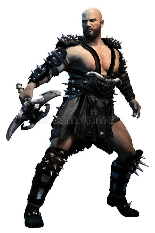 Fantasy warrior. With an axe royalty free stock images