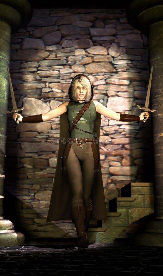 Free Fantasy Warrior Girl Royalty Free Stock Images - 13048099