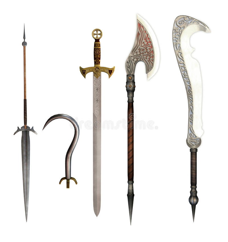 Fantasy weapons stock illustration