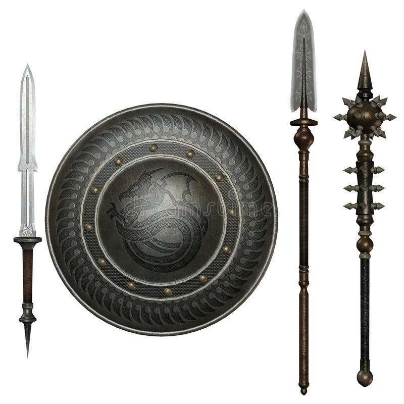 Fantasy weapons 2 stock illustration