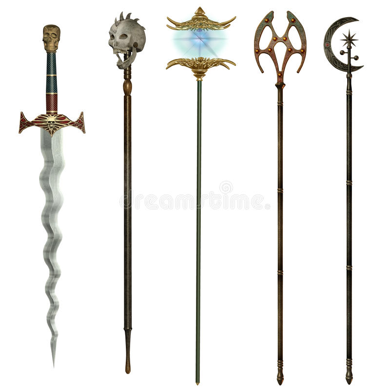 Fantasy weapons 2 royalty free illustration