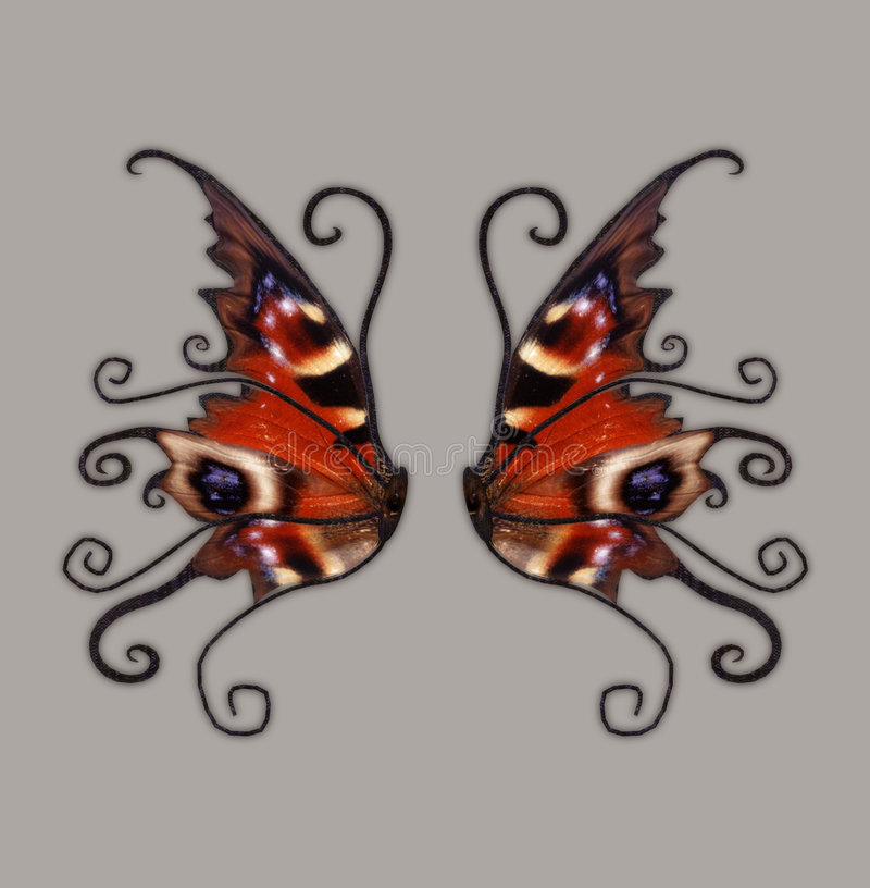 Download Fantasy Wings stock illustration. Illustration of glitter - 4707379