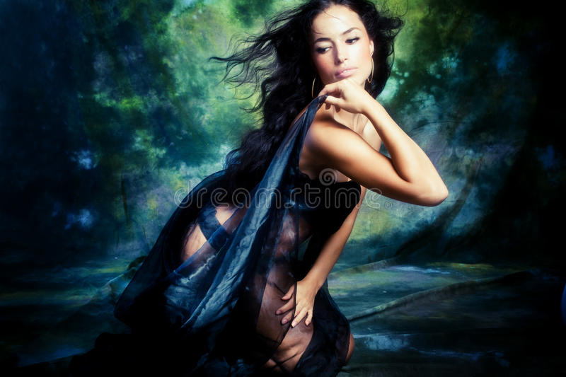 Fantasy woman royalty free stock photos