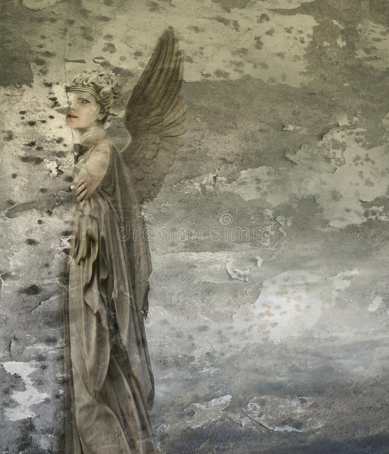 Fantasy woman angel. Fantasy artistic background representing a woman angel stock illustration