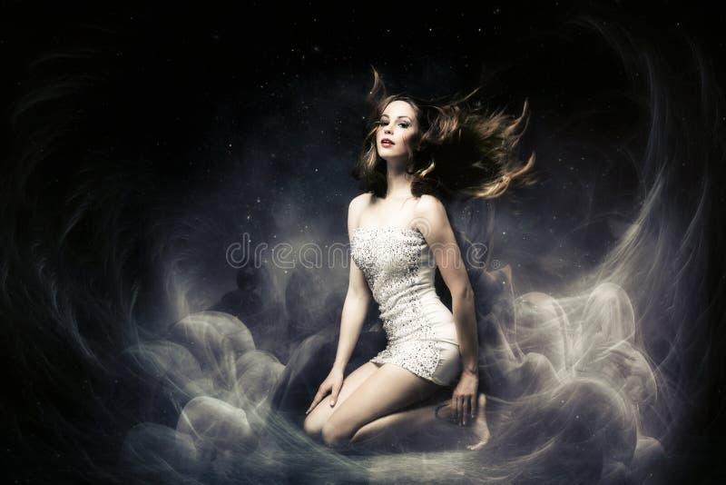 Fantasy woman. Beautiful fairy like fantasy woman stock images