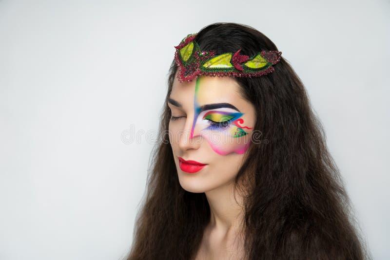 Fantasy woman make up royalty free stock photos