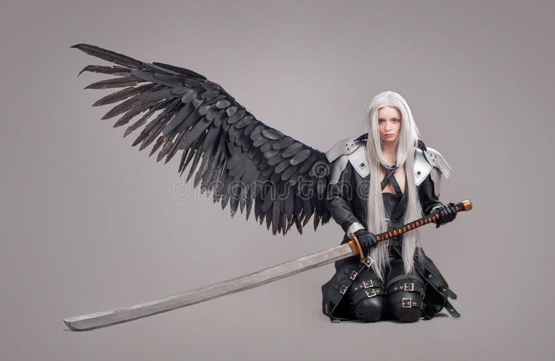 Fantasy woman warrior stock photography