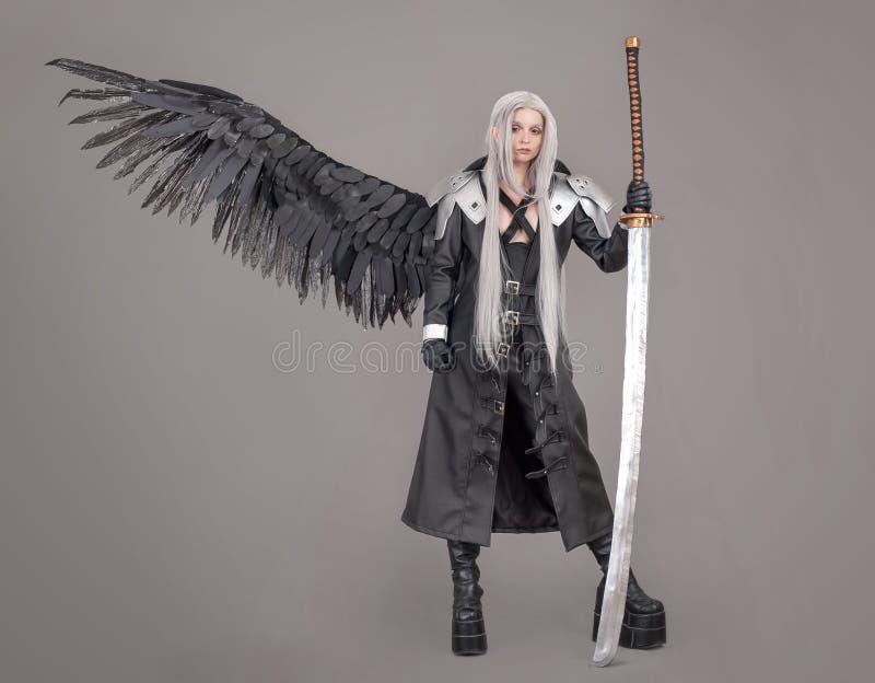 Fantasy woman warrior royalty free stock photos
