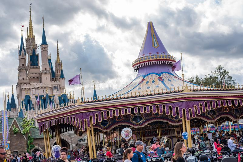 Fantasyland en el reino mágico, Walt Disney World imagenes de archivo