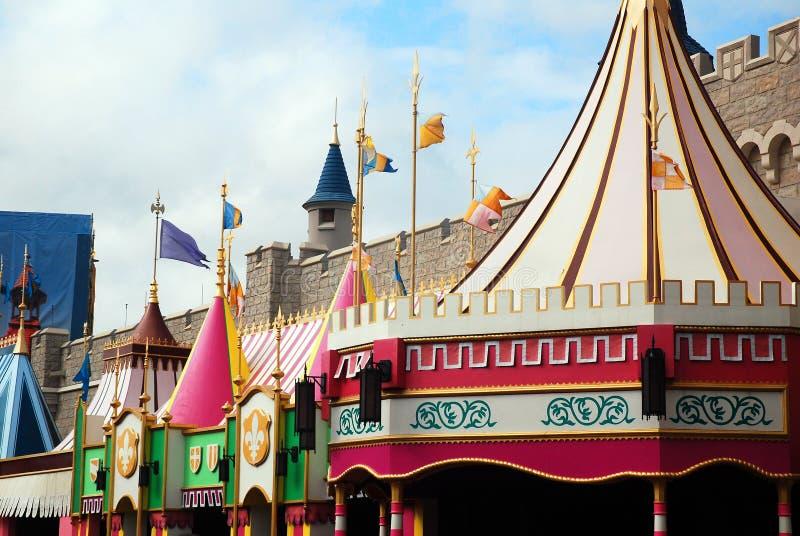 Fantasyland in het Magische Koninkrijk stock afbeeldingen