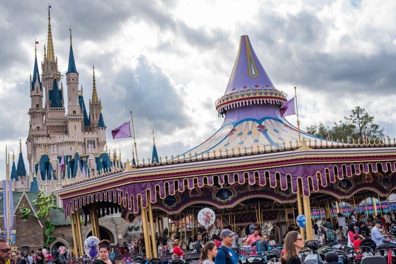 Fantasyland at the Magic Kingdom, Walt Disney World. Orlando, Florida: December 2, 2017: Fantasyland at The Magic Kingdom, Walt Disney World. In 2016, the park stock images