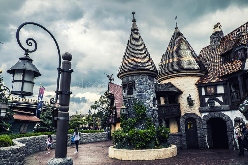 Fantasyland in Paris Disneyland royalty free stock photos