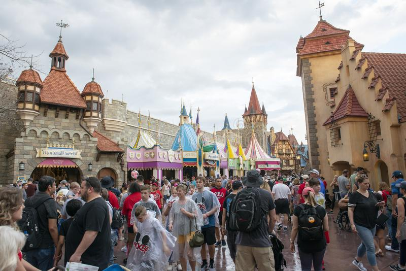 Fantasyland, royaume magique, Disney World, voyage images stock