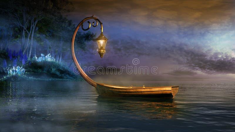 Fantazi łódź ilustracja wektor