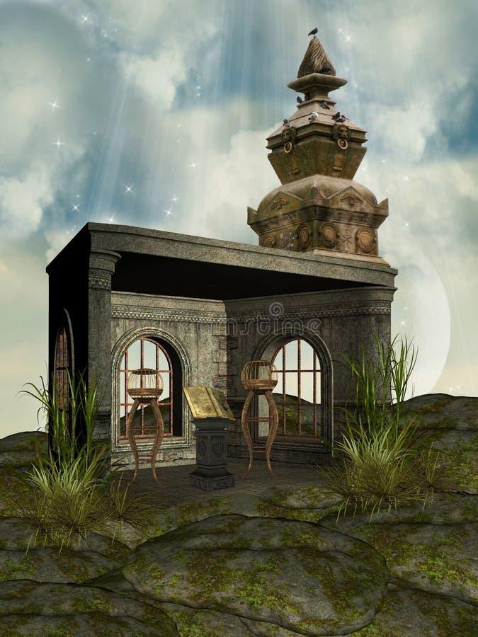 Fantazi świątynia ilustracji