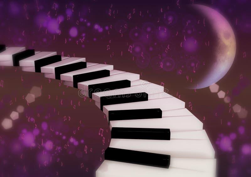 Fantazi konceptualny muzykalny tło royalty ilustracja