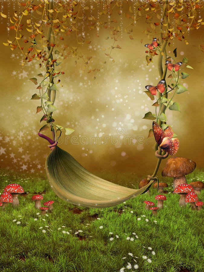 fantazi liść huśtawka