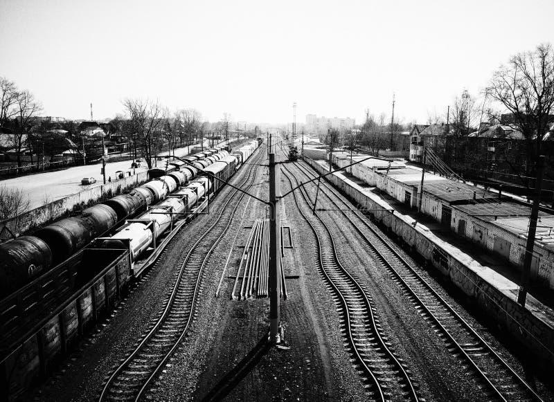 Fantazi linia kolejowa obrazy stock