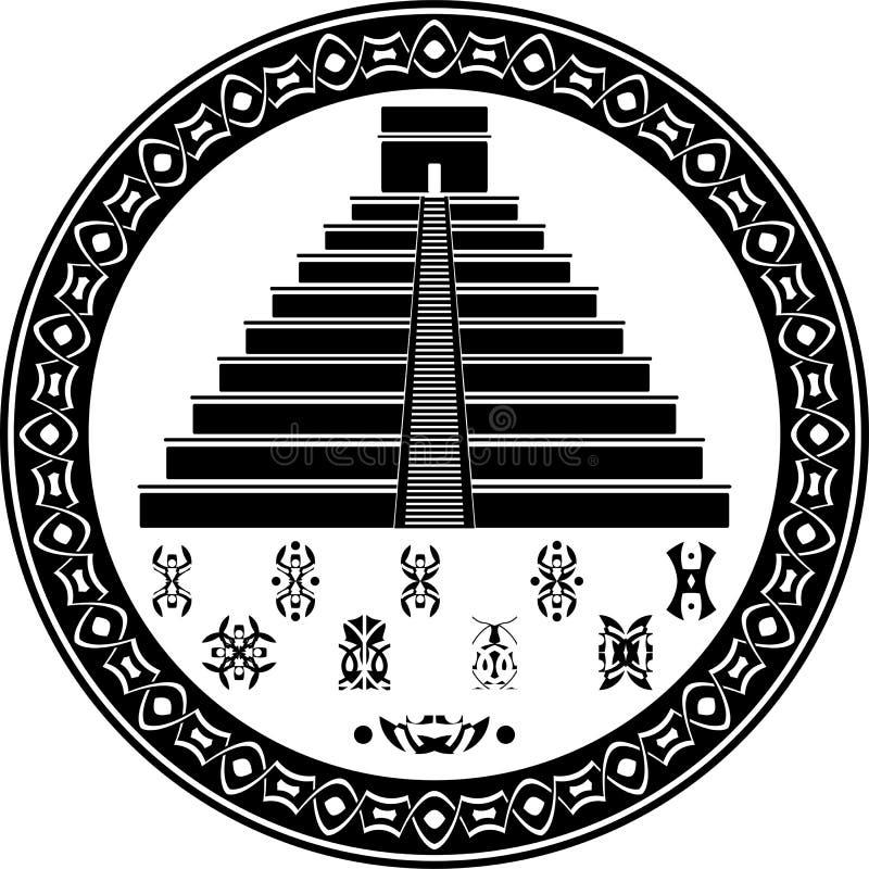 fantazi majscy ostrosłupa symbole ilustracji