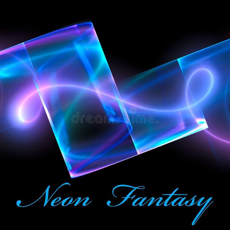 fantazi neon ilustracja wektor