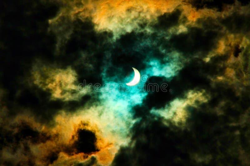 Fantazi Słoneczny zaćmienie zdjęcia stock