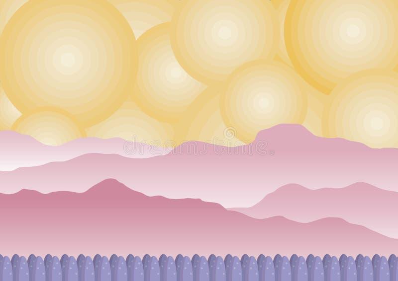 Fantazi sceneria ilustracja wektor