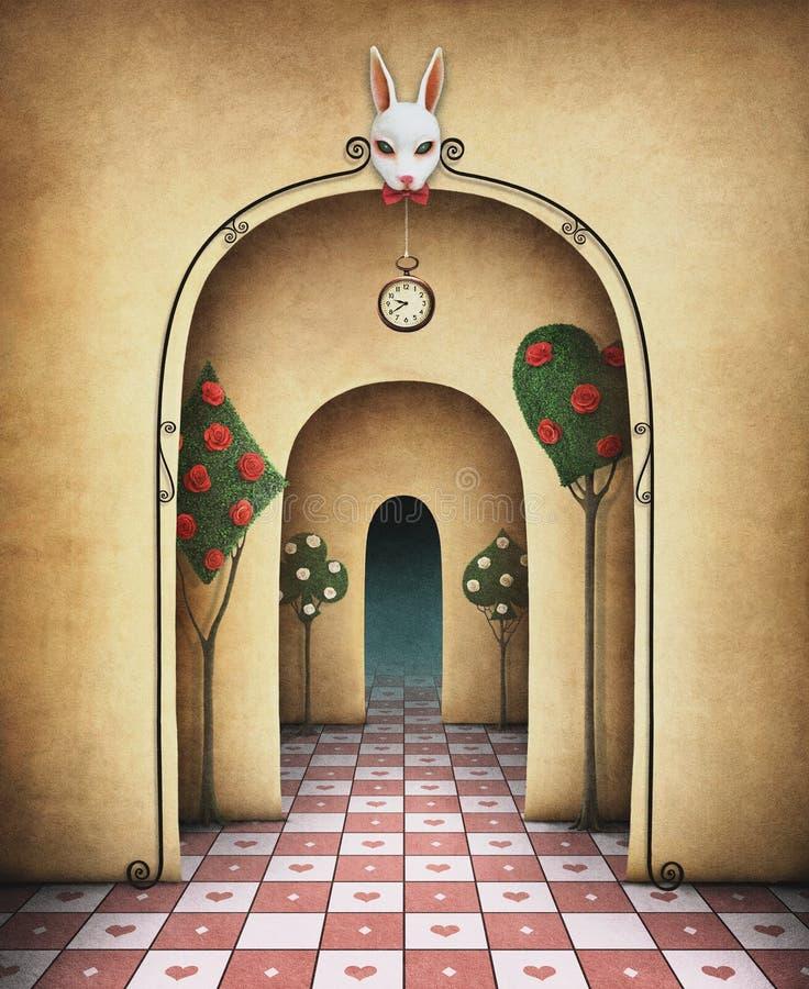 Fantazi tło z łukiem royalty ilustracja