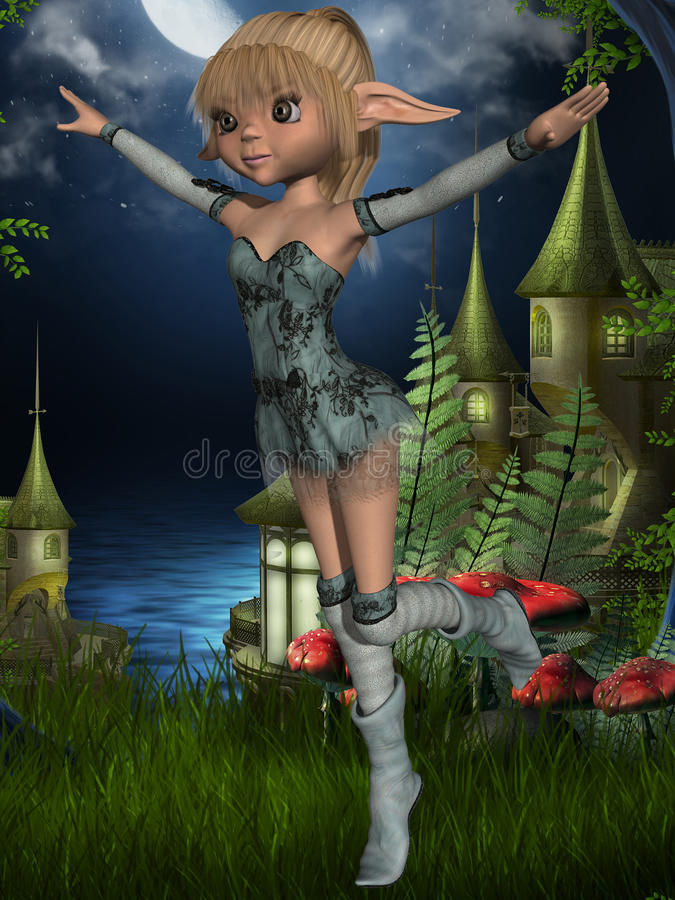 Fantazi Toon postać ilustracja wektor