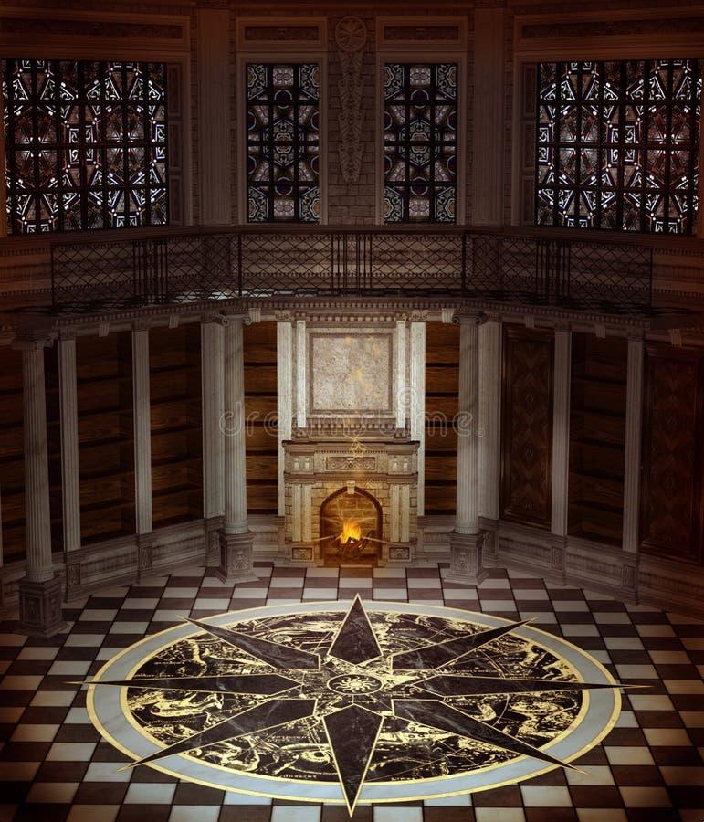fantazi wnętrza wierza ilustracja wektor