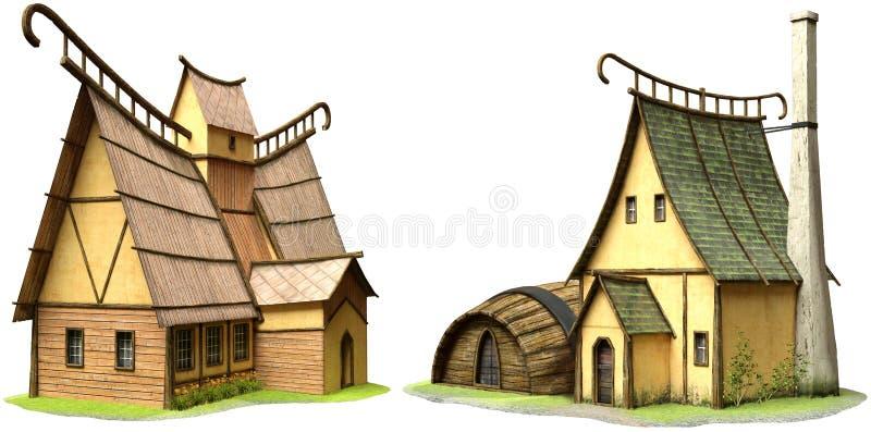 Fantazja budynków 3D ilustracja royalty ilustracja