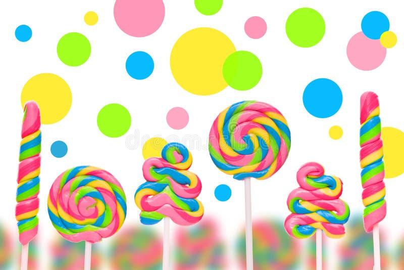Fantazja cukierku słodka ziemia z lollies ilustracji