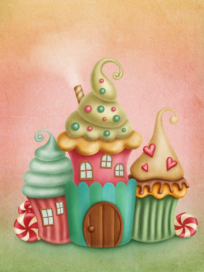 Fantazja domy royalty ilustracja