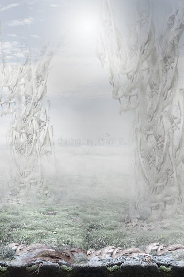 fantazja Enigmatyczny Surrealistyczny tło obrazy royalty free