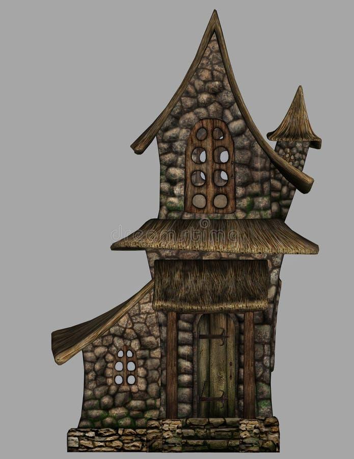 Fantazja gnomu dom 2 royalty ilustracja