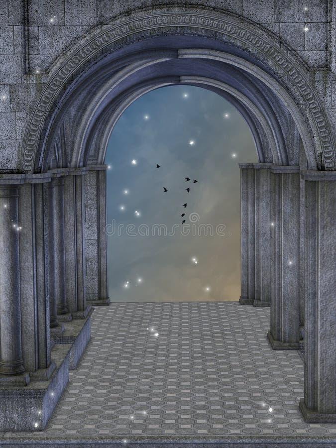 Fantazja kasztel royalty ilustracja