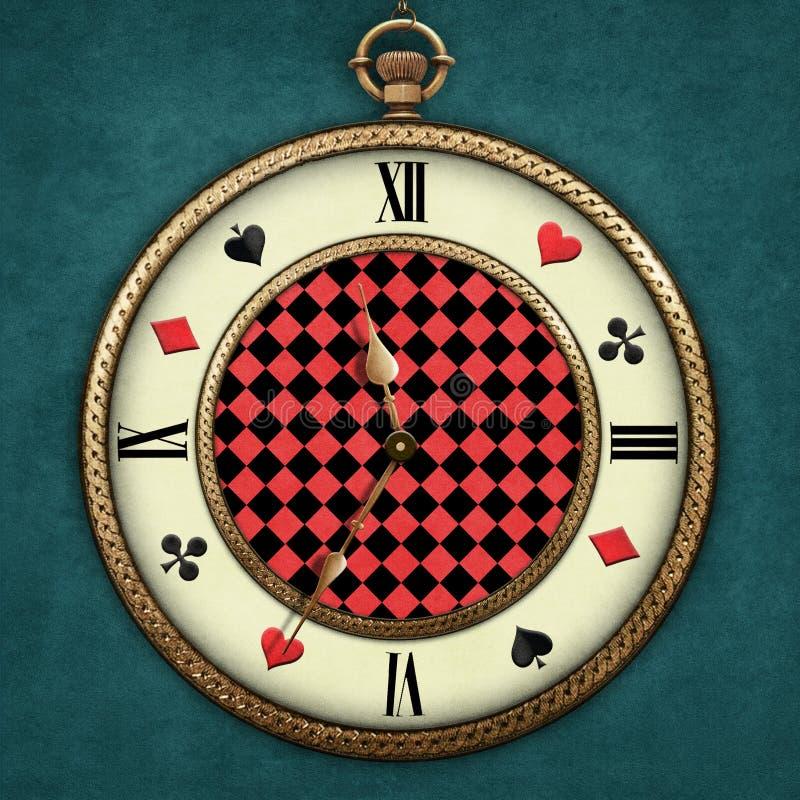 Fantazja Kieszeniowy zegarek royalty ilustracja