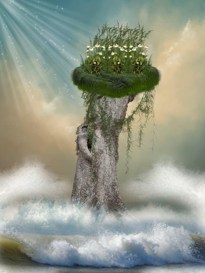 fantazja krajobraz royalty ilustracja