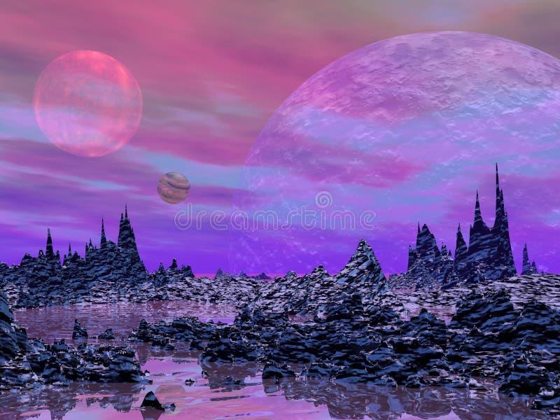Fantazja krajobraz ilustracji