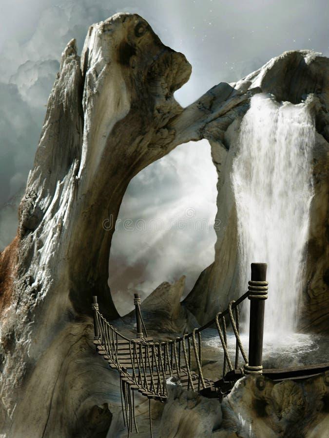 Fantazja Krajobraz ilustracja wektor