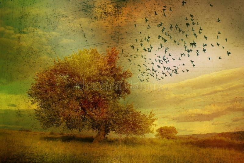 Fantazja krajobraz II ilustracja wektor