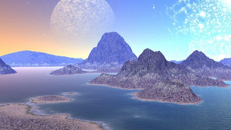 fantazja krajobrazu ilustracji