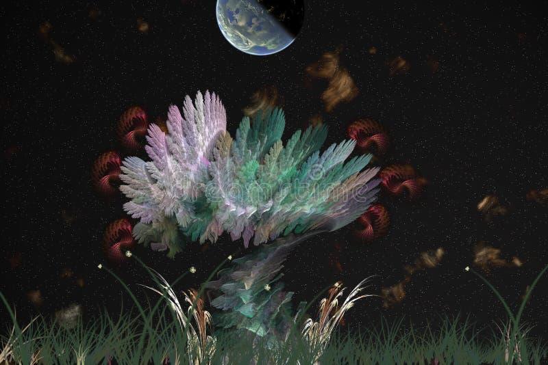 fantazja krajobrazu ilustracja wektor