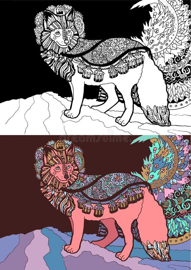 Fantazja lisa książe w 2 varients ilustracja wektor