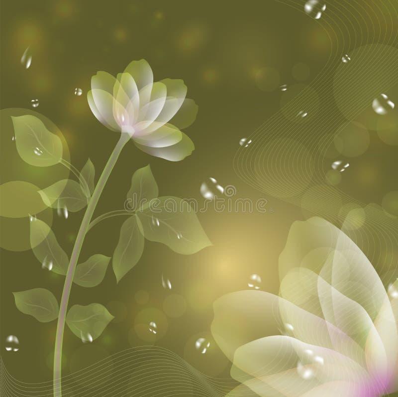 Fantazja piękny kwiat royalty ilustracja
